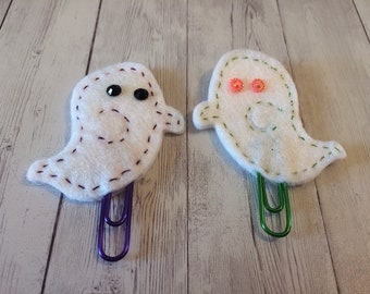 Boo Who? Embroidered Felt Paper Clip