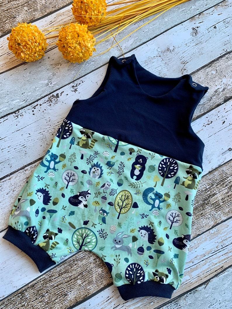 Summer Romper Romper Baby Forest Animals