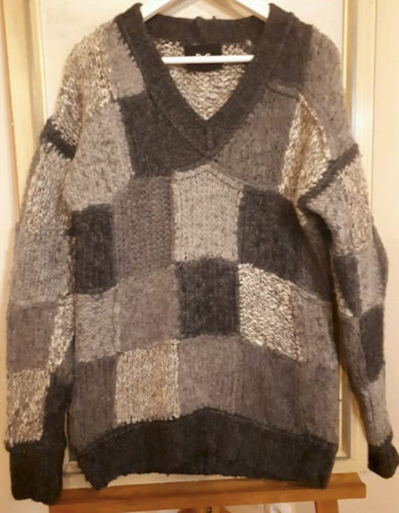 Dolce & Gabbana patchwork sweater / chunky sweater