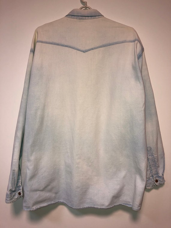 50s Levis denim shirt XL western shirt / 60s Levi… - image 3