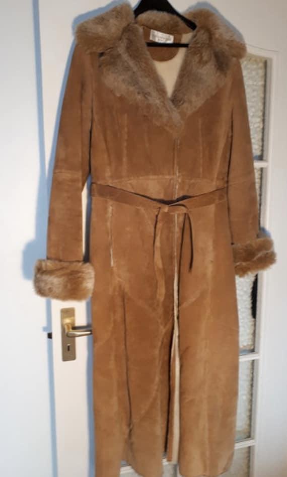 Vinatge Afghan coat / Penny Lane coat / suede Afgh
