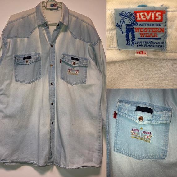 50s Levis denim shirt XL western shirt / 60s Levis