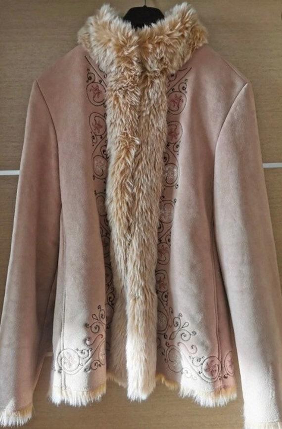 Vintage Afghan coat / Betty Barclay Afghan jacket