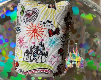 Custom Made Lip Balm /& Hand Sanitizer Holder Disney Dooney Sketch