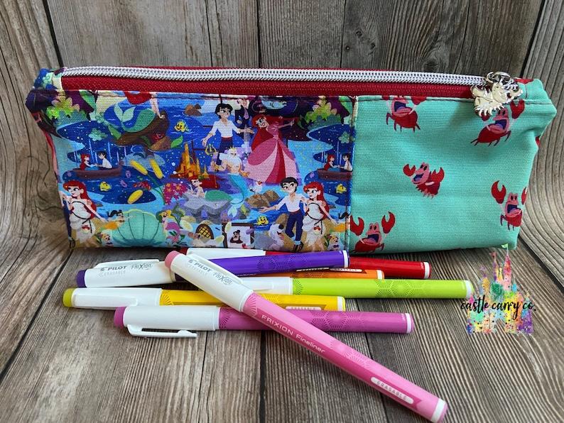 Pens /& Brushes Little Mermaid Inspired Pencil Case Pencils