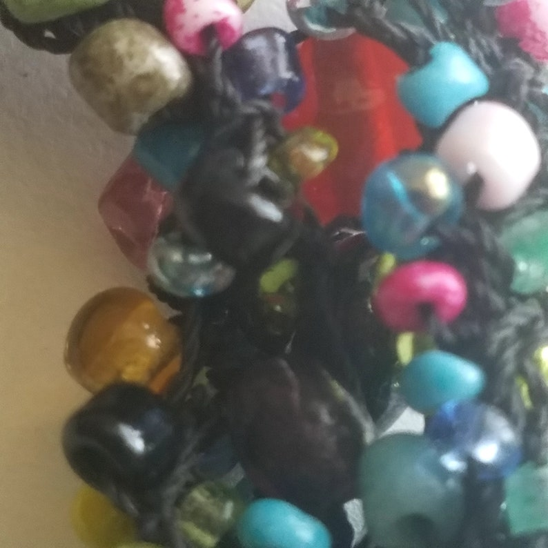 Vintage Colorful Bead Necklace