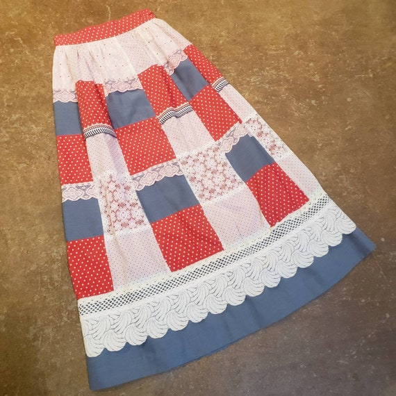 1970's Patchwork Maxi Skirt