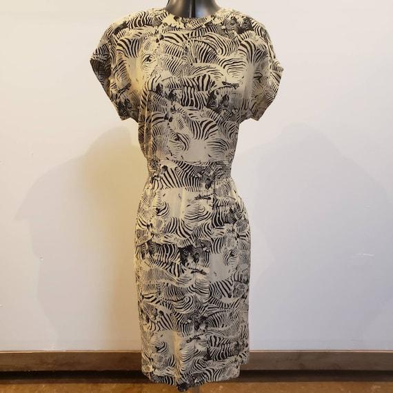 1990s Zebra Print Dress