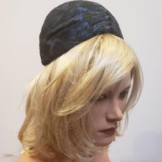 1960's Pleated Brocade Pillbox Hat