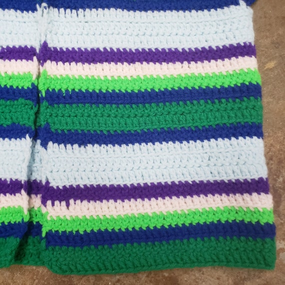 1970s Cool  Hand Crochet Striped Sweater Vest - image 2