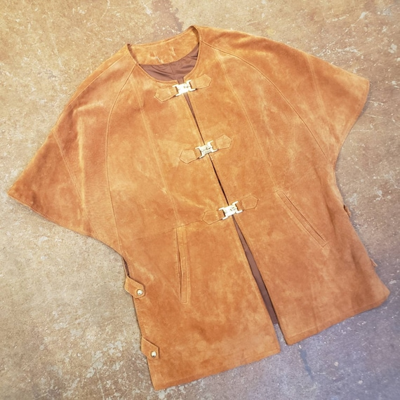 1960s Umber Suede Hippie Tunic