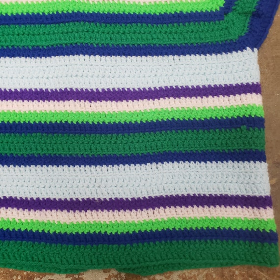 1970s Cool  Hand Crochet Striped Sweater Vest - image 7