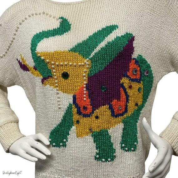 Vintage 1980s Ory New York Beaded Tassel Sweater sz L