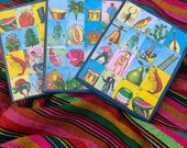 Handmade Wooden Loteria Playing Boards