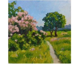 Stampa D/'ARTE ORIGINALE DI PITTURA A Olio Fiori Floreale Rose Impressionismo shabby chic