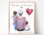 Personalised Nan / Grandchildren Print, Grandparent Gift, Grandchildren Print