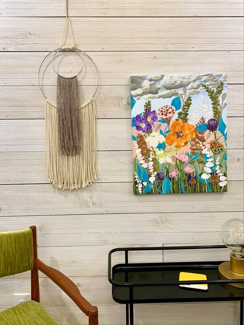 Home Decor Simple Boy Girl Nursery Original Artwork Baby Shower NO FRILLS Wall Art Minimal Modern Macrame Dream Catcher