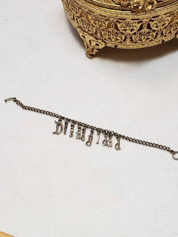 Disneyland vintage Souvenir Metal Charm Bracelet