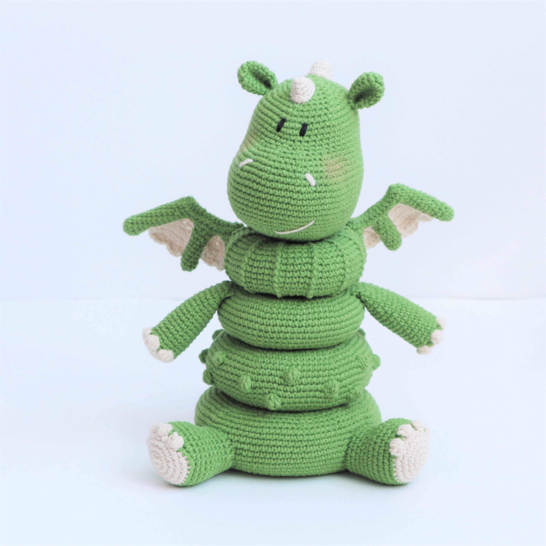 Stacking toy Dragon crochet pattern