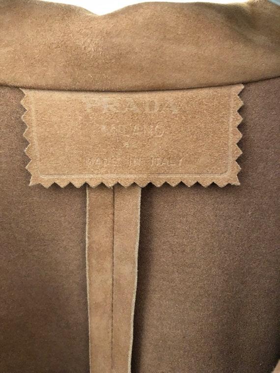 Prada suede leather jacket shirt - image 3
