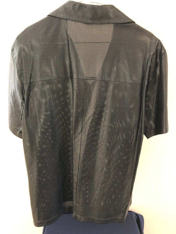 Salvatore Ferragamo leather shirt - image 2