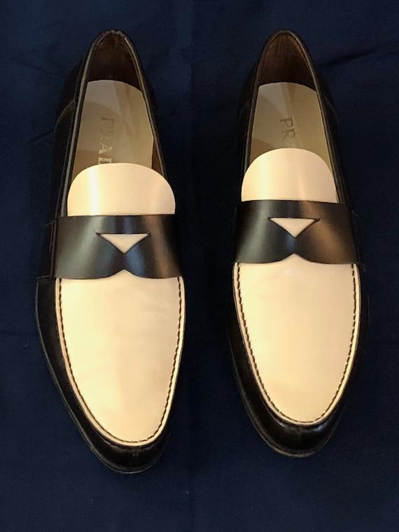 Prada spectator shoes men's