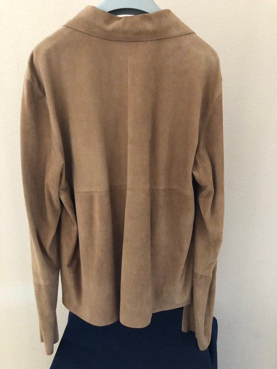 Prada suede leather jacket shirt - image 2