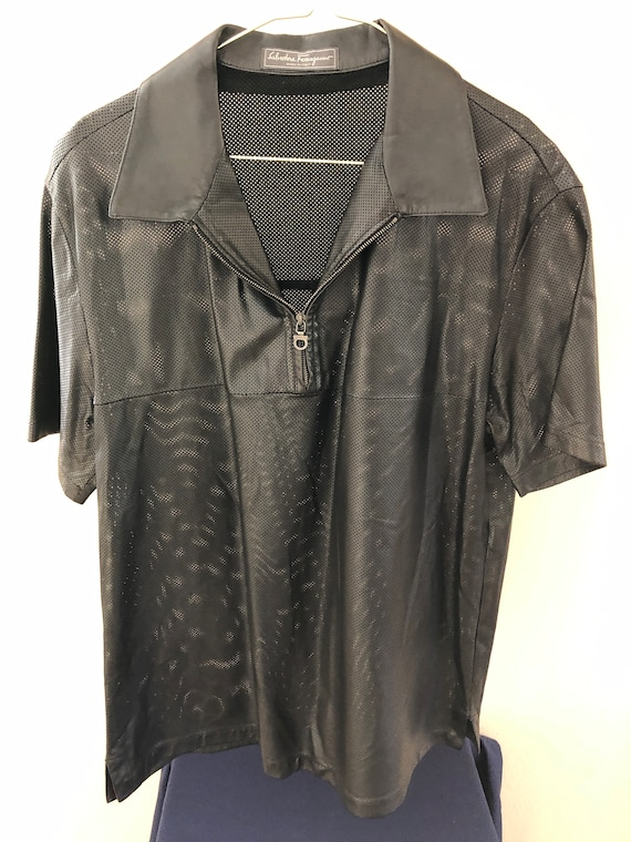 Salvatore Ferragamo leather shirt - image 1