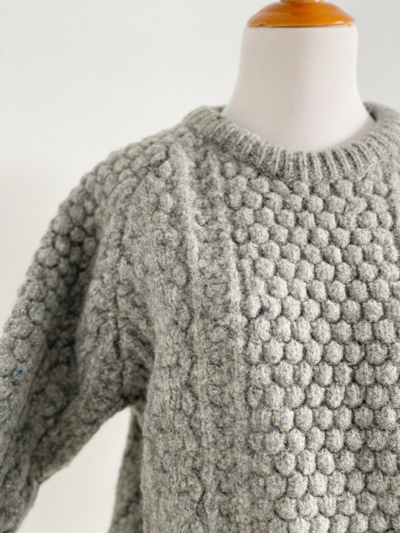 Vintage 1970s Irish Fisherman Wool Sweater | Chun… - image 7