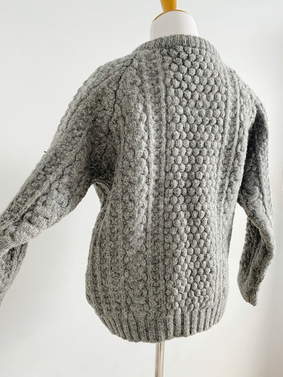 Vintage 1970s Irish Fisherman Wool Sweater | Chun… - image 5