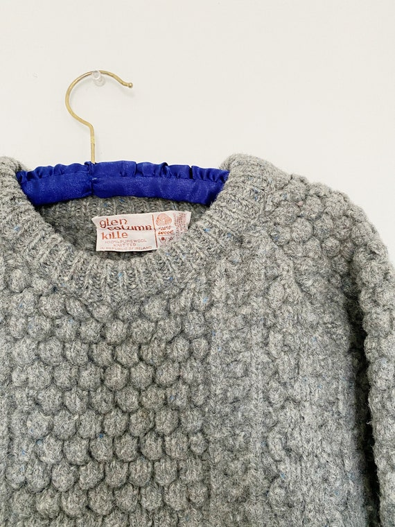 Vintage 1970s Irish Fisherman Wool Sweater | Chun… - image 8