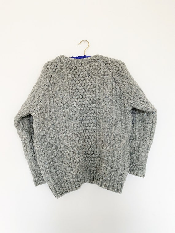 Vintage 1970s Irish Fisherman Wool Sweater | Chun… - image 10