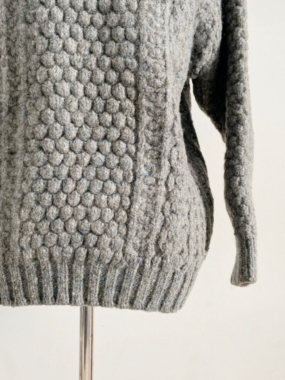 Vintage 1970s Irish Fisherman Wool Sweater | Chun… - image 6