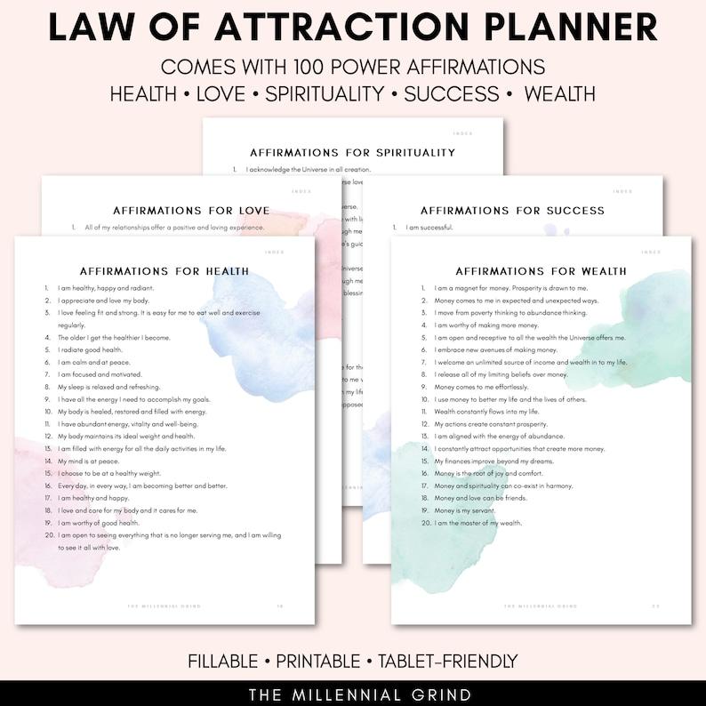 Positive Affirmations Planner