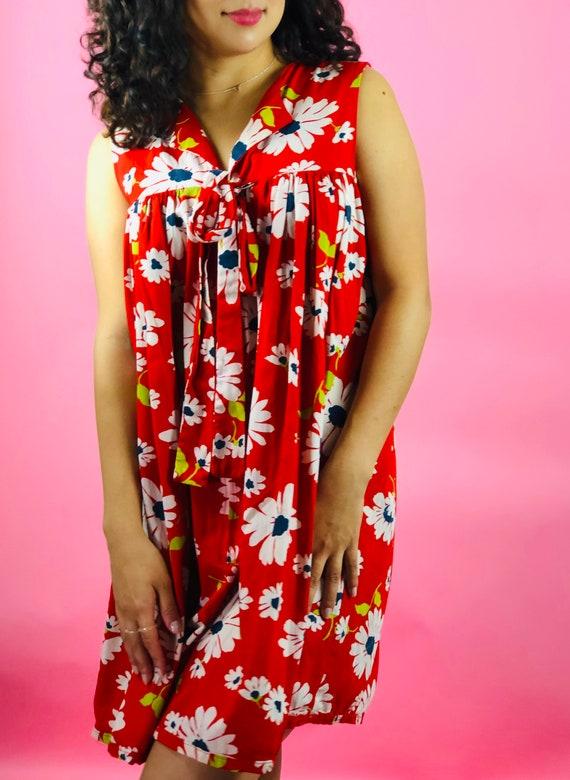 Vintage 60s Trapeze Flower Dress