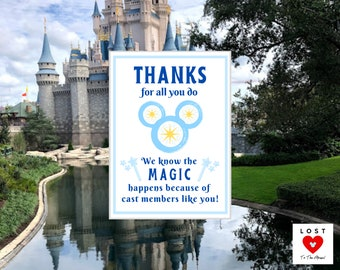 MAGIC KINGDOM Disney Cast Member Thank You Notes! Make some MAGIC in the Parks