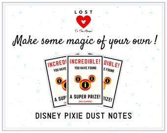 DISNEY PIXIE DUST Notes! Share some magic with the other Guests!