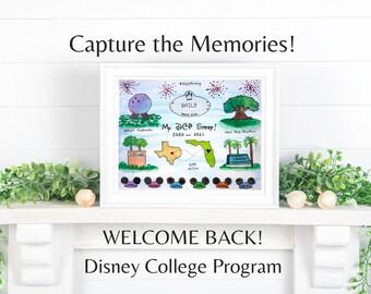 MY DCP STORY Custom painted watercolor keepsake for the Walt Disney World College Program Alumni