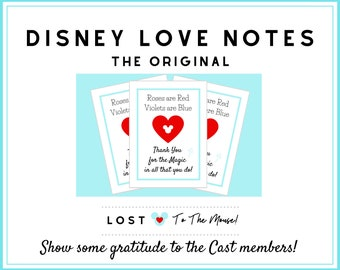 DISNEY Cast Member LOVE Notes! Show some Gratitude in the Parks