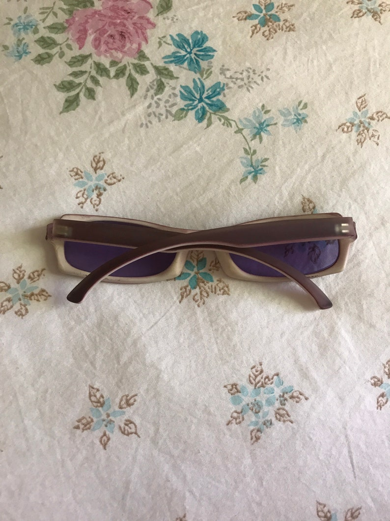 Purple rectangular y2k sunglasses