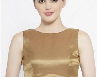 Art silk blouse wedding blouse readymade blouse indian designer partywear blouse blouses for bridesmaids suitable for saree