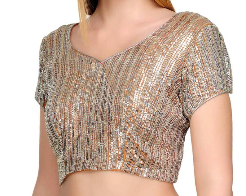 Designer sequince readymade blouse for saree indian blouse with beautiful sequince