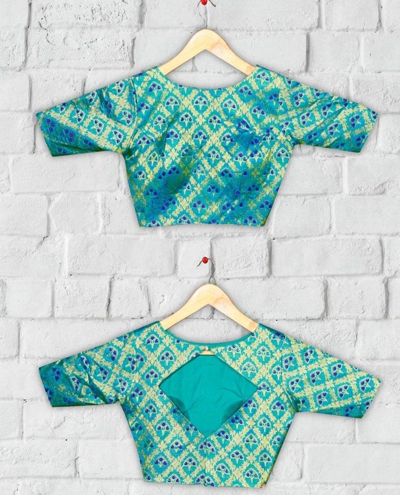 Designer readymade blouse indian saree blouse brocade blouse for saree