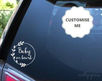Personalised Star Shaped Grandchildren Baby// child on Board Car Window Sign pibl