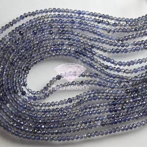3.5-4mm Faceted Rondelles Finest Quality Wholesale Price 100/% NATURAL Shaded Blue Sapphire Full 17 Inch,Brand New