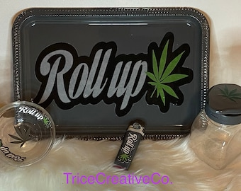 Roll up | 4 pc  Rolling Tray Set|