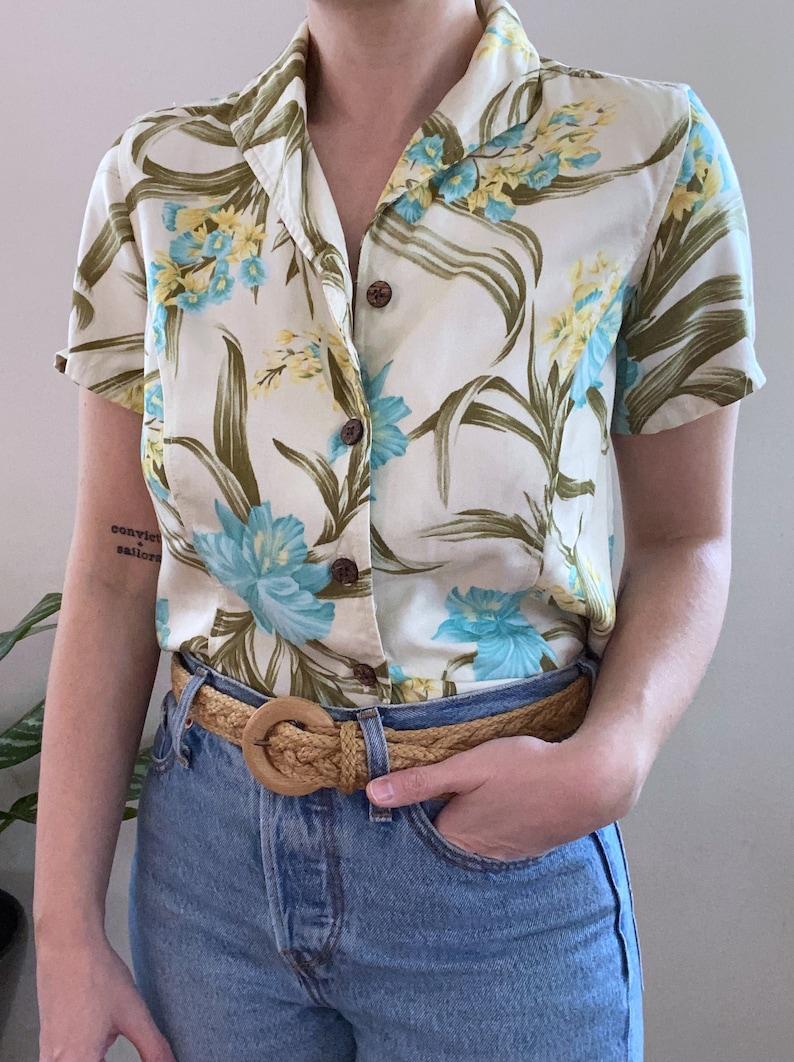 Vintage 80s Floral Island Shirt