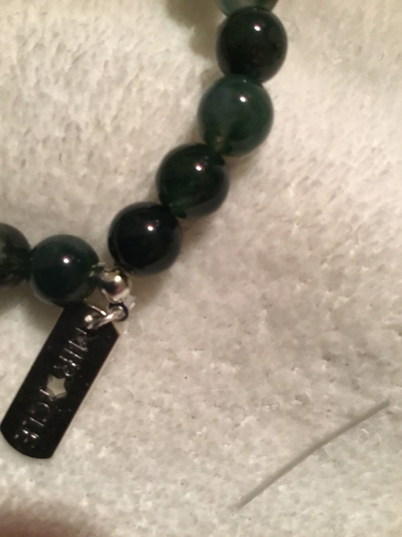 African Turquoise 8mm charm bracelet