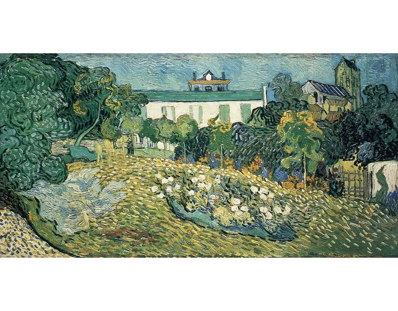 8 Hand Painted Vincent van Gogh Scenery Oil Paintings Art on Canvas as Wall Decor /& Gift Alpilles Olive Trees in Foreground landscape
