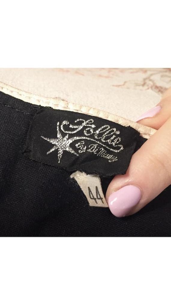 Black leather pants, 80s Biker Black leather Pant… - image 7